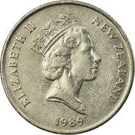 Monnaie, Nouvelle-Zélande, Elizabeth II, 10 Cents, 1989, TTB, Copper-nickel - Nouvelle-Zélande