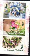 FINLAND, 2019, MNH, FLORAL ARTESTRY, FLOWERS,  DOGS, 3v - Hunde