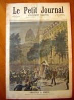 LE PETIT JOURNAL 1893 N° 138 Emeutes à Paris Préfecture Police , Emeutes à Strasbourg Place Kébert Polizei - Journaux - Quotidiens
