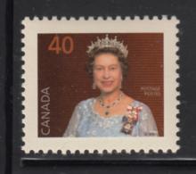 Canada 1991 MNH Sc #1168i 40c QEII Harrison Paper - 1952-.... Reign Of Elizabeth II