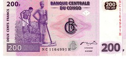 Congo Republic Democratic P.99 200 Francs 2007 Unc - Congo