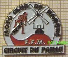 MOTO CLUB De  NAOURS    CIRCUIT DU PAILLU  FFM  MOULIN à VENT  Dpt 80 SOMME - Motorfietsen