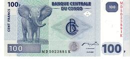 Congo Republic Democratic P.98  100 Francs 2007 Unc - Congo