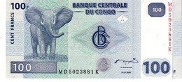 Congo Republic Democratic P.98  100 Francs 2007 Unc - Repubblica Democratica Del Congo & Zaire