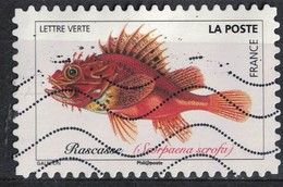France 2019 Oblitéré Used Poissons De Mer Rascasse Scorpaena Scrofa - France