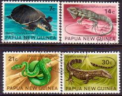 PAPUA NEW GUINEA 1972 SG #216-19 Compl.set Used Reptiles - Papoea-Nieuw-Guinea