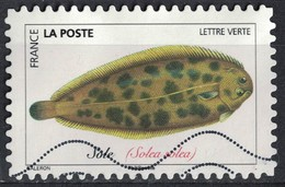 France 2019 Oblitéré Used Poissons De Mer Sole Solea Solea - France