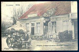 Cpa De Belgique Anvers Le Retour à La Maison Dévastée -- Charrette à Chiens   MA2 - Belgique