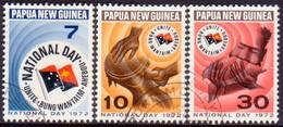 PAPUA NEW GUINEA 1972 SG #224-26 Compl.set Used National Day - Papua New Guinea
