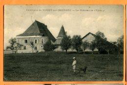 EGG892, Environs De Virieu Sur Bourbre, Le Château De L'Epiney, Animée ,circulée 1933 Timbre Décollé - Virieu