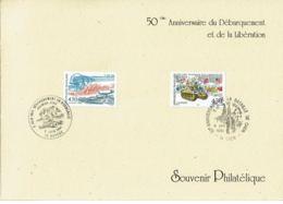 1994 - 50e Anniv. Du Débarquement Et De La Bataille De Caen - Cachet Commémoratif Caen Et Bayeux - Tp N° 2887 + 2888 - Cachets Commémoratifs