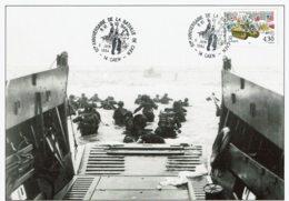 1994 - 50e Anniversaire De La Bataille De Caen - CP Du Débarquement - Cachet Commémoratif Sur Tp N° 2887 - Voir Verso - Cachets Commémoratifs