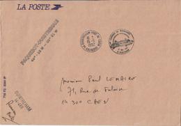 1992 - 1ere Traversée Ferry NORMANDIE Ouistreham-Portsmouth - Cachet Maritime Ouistreham + Cachet Postal Du Port - Cachets Commémoratifs