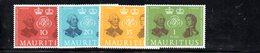 CI711 - MAURITIUS 1961 , Yvert N. 256/259  ***  (2380A) - Mauritius (...-1967)