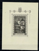 Hrvatska 1943  Yv Bl 5**, Mi Bl 6** MNH (zie/voir 2 Scans) - Croatie