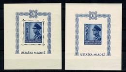 Hrvatska 1943  Yv Bl 6**, Mi Bl 4** Getand En Ongetand / Dentelé Et Non Dentelé MNH (zie/voir 2 Scans) - Croatie