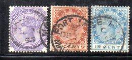 CI700 - MAURITIUS 1893 , Serie Yvert N. 83/85  Usato  (2380A) - Mauritius (...-1967)