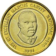 Monnaie, Jamaica, Elizabeth II, Marcus Garvey, 20 Dollars, 2001, Franklin Mint - Jamaique