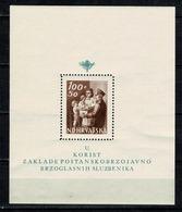 Hrvatska 1943  Yv Bl 8** (138), Mi Bl 9**  MNH (zie/voir 2 Scans) - Croatie