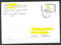 Estland Estonia 2019 O Jõgeva Domestic Letter Osmussaare Light House Leuchtturm As Single - Estland