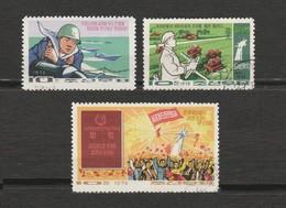 Corée Du Nord  - 3 Timbres - Année 1972 Mi 1136 - Année 1972 Mi 1111 - Année 1974 Mi 1245 - Corée Du Nord