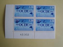 1990 France  Yv 2673 X 4 ** OCDE  Cote 6.00 € Michel 2812 Scott 2241 SG 3007 Planisphère - France