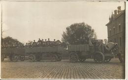 Carte Photo LIGNY Sombreffe  Visite De La Ferme De Ligny Par Ingénieurs Agricoles Chassart 1921 - Sombreffe