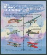Gambia 1998 Geschichte Der Fliegerei Flugzeuge 3022/27 K Postfrisch (C28165) - Gambia (1965-...)