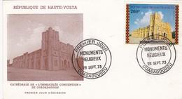 CATHEDRALE DE L'IMMACULEE CONCEPTION DE OUAGADOUGOU-FDC 1973 REPUBLIQUE DE HAUTE VOLTA - BLEUP - Haute-Volta (1958-1984)