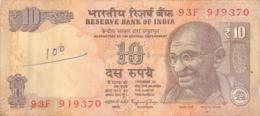BILLET  INDIA 10  TEN RUPEES - Inde