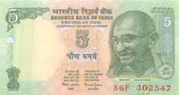 BILLET  INDIA 5 FIVE RUPEES - Inde