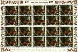 Luxembourg Feuille De 20 Timbres à 0,45+0,05 Euro Eichhörnchen,Ecureuil,Squirrel 2001 - Full Sheets