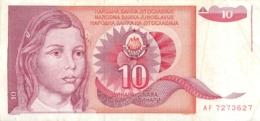 BILLET   YOUGOSLAVIE  10 - Yougoslavie