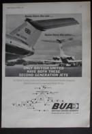 ORIGINAL1966 MAGAZINE ADVERT FOR  BRITISH UNITED AIRWAYS - Other