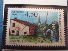 """90-99  - Timbre Oblitéré N°  3002  """"  Jeanne D Arc à Domrémy     """"  0.30 - France"""