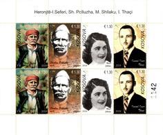 Kosovo Stamps 2019. Army Heroes: Seferi, Polluzha, Shllaku, Thaçi. Sheet MNH - Kosovo