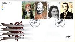 Kosovo Stamps 2019. Army Heroes: Seferi, Polluzha, Shllaku, Thaçi. FDC MNH - Kosovo