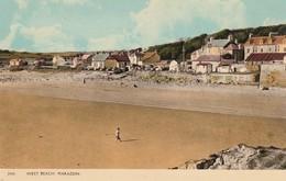 Unused C1950 Colour Card West Beach Marazion Dearden & Wade - England