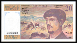 20F Debussy  1987 - W 021 - NEUF - Fay : 66.8 - 1962-1997 ''Francs''