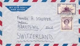 Lettre Brooklyn 1954 Wellington New Zealand Suisse Switzerland Bäretswil - Briefe U. Dokumente