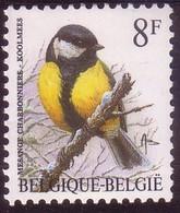 BE 1992 N°2460P8XX - Mésange Charbonnière - Papier Fluor Gomme Verte -i- Extrait D'une Fle Imprimée Le 21 VIII 95 - 1985-.. Oiseaux (Buzin)