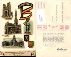606699,DECALPOSTCARD Abziehkarte Brüssel Bruxelles Belgium - Ansichtskarten