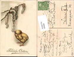 606468,Lithographie Ostern Küken Palmkätzchen - Ostern