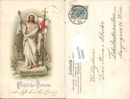 606465,Lithographie Jesus Ostern Römer Soldaten Auferstehung Stp. St. Gilgen - Ostern