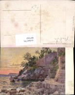 607542,Künstler AK Ludwig Hans Fischer Strand B. Lapad Dubrovnik Ragusa Croatia - Kroatien