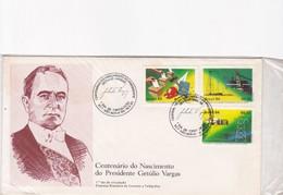 CENTENARIO DO NASCIMENTO DO PRESIDENTE GETULIO VARGAS-FDC 1984 SAO BORJA - BLEUP - FDC