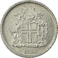 Monnaie, Iceland, Krona, 1980, TTB, Aluminium, KM:23 - Islande