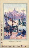 - Magnifique Image, Chromo - Marseille, Le Vieux Port,  D'après Tableau Signée Soren ?, TTBE, Scans. - Vieux Papiers
