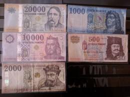 BILLETS Hungria Hungary Magya 5 BILLETS  NOTES - Spagna