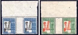 GUADELOUPE T38 & T39 ** Paires Avec Pont Et Bord De Feuille - Guadeloupe (1884-1947)